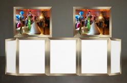 Naga 7 Panel Gold Veneer DJ Facade Set